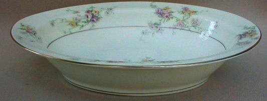 Make sure your browser can show photos and reload this page to see Haviland China Gloria Oval vegetable 9 1/2