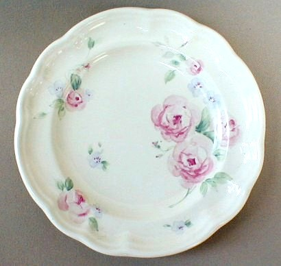 Make sure your browser can show photos and reload this page to see Pfaltzgraff China Secret Rose Dinner plate 10 1/4