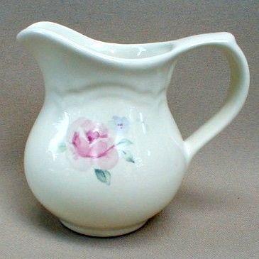 Make sure your browser can show photos and reload this page to see Pfaltzgraff China Secret Rose Creamer