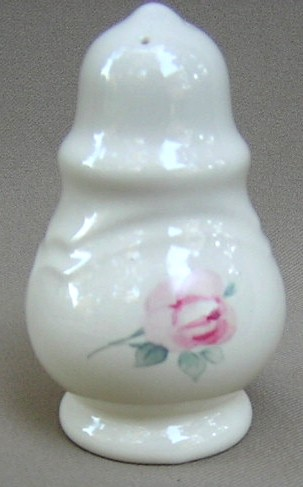 Make sure your browser can show photos and reload this page to see Pfaltzgraff China Secret Rose Salt shaker only