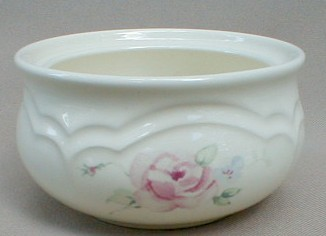 Make sure your browser can show photos and reload this page to see Pfaltzgraff China Secret Rose Sugar bowl (no lid)
