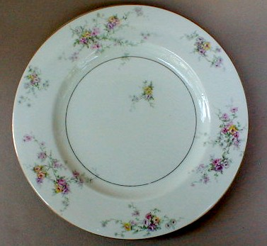 Make sure your browser can show photos and reload this page to see Haviland China Gloria Dinner plate 10 5/8