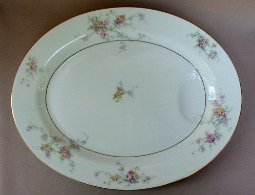 Make sure your browser can show photos and reload this page to see Haviland China Gloria Platter, medium 14 1/8