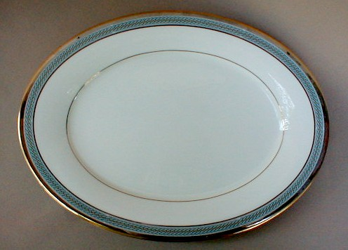 Make sure your browser can show photos and reload this page to see Noritake China Queens Guard 7712 Platter, medium 13 1/2