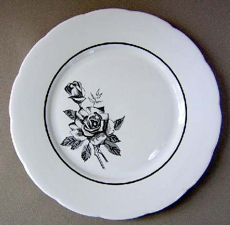 Make sure your browser can show photos and reload this page to see Lenox China Ebony Rose Salad plate 8 1/4