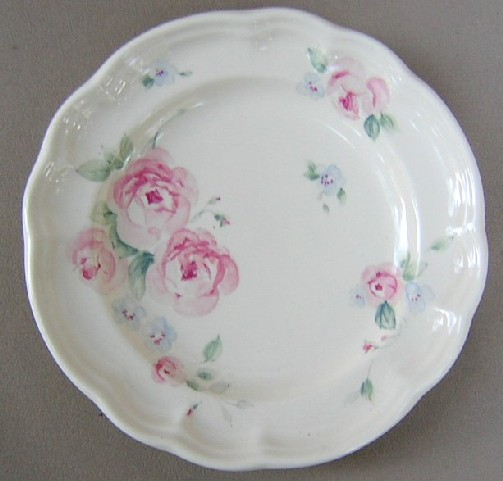 Make sure your browser can show photos and reload this page to see Pfaltzgraff China Secret Rose Salad plate 7 1/4