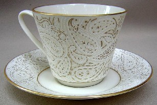 Make sure your browser can show photos and reload this page to see Lenox China Transition  Cup and saucer set 2 7/8