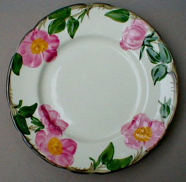 Make sure your browser can show photos and reload this page to see Franciscan China Desert Rose - USA  Salad plate 7 7/8