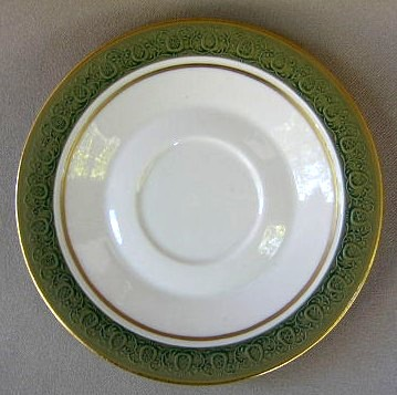 Make sure your browser can show photos and reload this page to see Franciscan China Antique Green  Saucer only