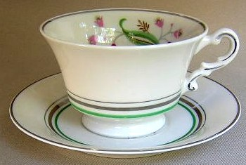 Make sure your browser can show photos and reload this page to see Syracuse China Coralbel Cup and saucer set