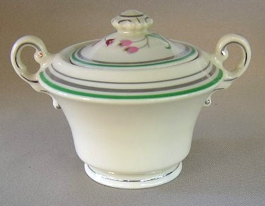 Make sure your browser can show photos and reload this page to see Syracuse China Coralbel Sugar bowl with lid