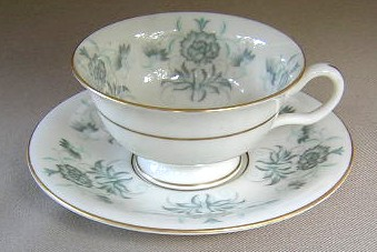 Make sure your browser can show photos and reload this page to see Castleton - USA China Caprice  Cup and saucer set 2 1/4
