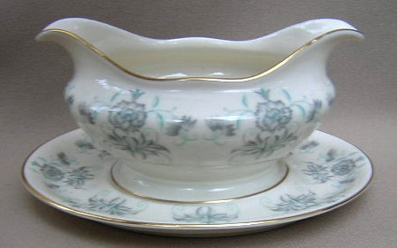 Make sure your browser can show photos and reload this page to see Castleton - USA China Caprice  Gravy-attached stand