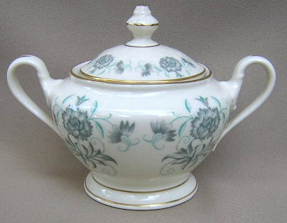 Make sure your browser can show photos and reload this page to see Castleton - USA China Caprice  Sugar bowl with lid