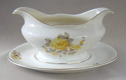 Make sure your browser can show photos and reload this page to see Castleton - USA China Mayfair Gravy-attached stand