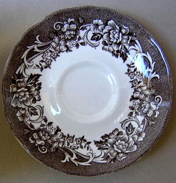 Make sure your browser can show photos and reload this page to see Meakin, J. & G. Dinnerware Stratford Stage - Brown Saucer only 5 7/8