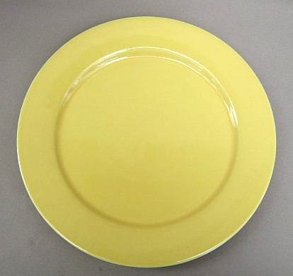 Make sure your browser can show photos and reload this page to see Epoch Dinnerware Yellow E404 Charger/Service Plate 12 1/2