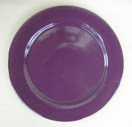 Make sure your browser can show photos and reload this page to see Epoch Dinnerware Eggplant E406 Charger/Service Plate 12 1/2