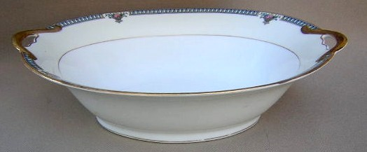 Make sure your browser can show photos and reload this page to see Noritake China Glendive 71227 Oval vegetable 10 1/2