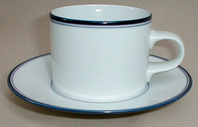 Make sure your browser can show photos and reload this page to see Dansk China Allegro - Blue Cup and saucer set 2 3/4