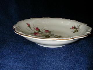 Make sure your browser can show photos and reload this page to see Rosenthal - Continental China Moss Rose - Ivory - Pompadour Fruit/dessert bowl -5 1/4