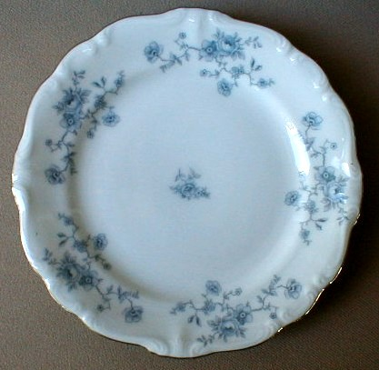 Make sure your browser can show photos and reload this page to see Johann Haviland China Blue Garland (Bavarian Backstamp)  Bread and butter plate