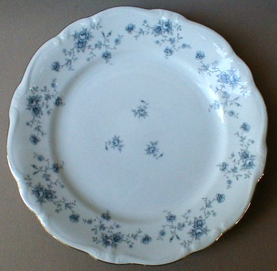 Make sure your browser can show photos and reload this page to see Johann Haviland China Blue Garland (Bavarian Backstamp)  Dinner plate
