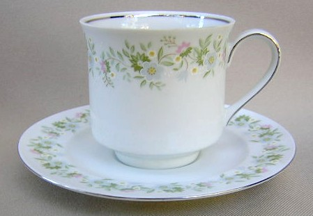 Make sure your browser can show photos and reload this page to see Johann Haviland China Forever Spring  Cup and saucer set