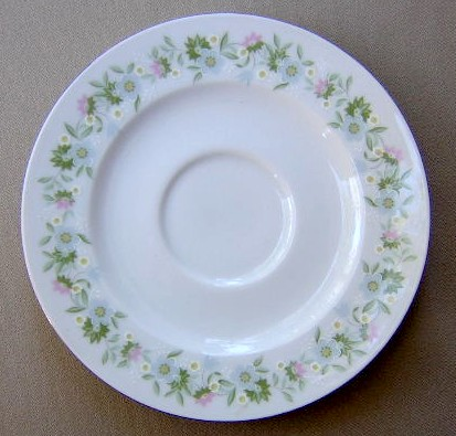 Make sure your browser can show photos and reload this page to see Johann Haviland China Forever Spring  Saucer only 6 1/8
