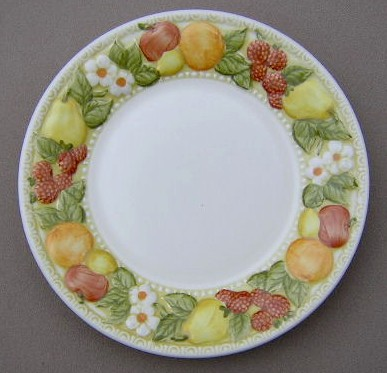 Make sure your browser can show photos and reload this page to see Metlox-Poppytrail-Vernon Pottery Della Robbia Salad plate 7 5/8