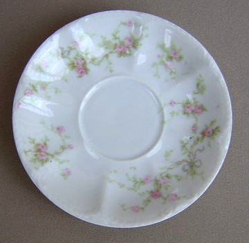 Make sure your browser can show photos and reload this page to see Haviland China Marie Saucer only 5 1/2