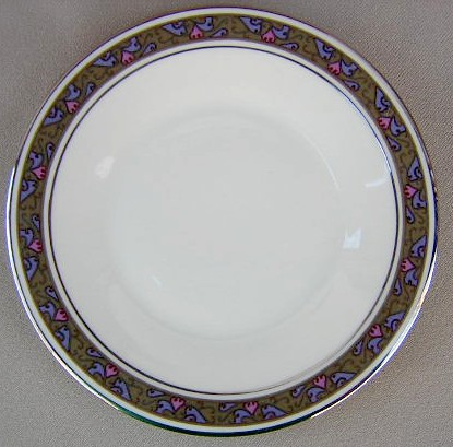 Make sure your browser can show photos and reload this page to see Franciscan China Constantine Bread and butter plate 6 1/8