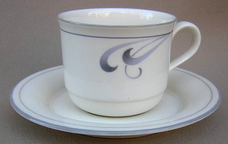 Make sure your browser can show photos and reload this page to see Lenox China Grey Brushstrokes Cup and saucer set 3 3/8
