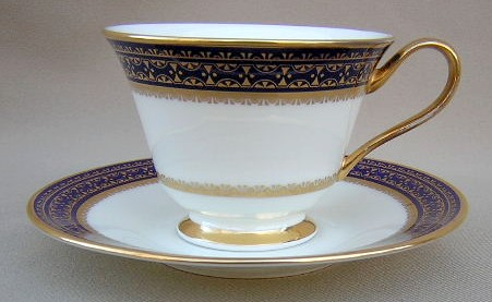 Make sure your browser can show photos and reload this page to see Oxford (Div Of Lenox) China Cortina Cup and saucer set