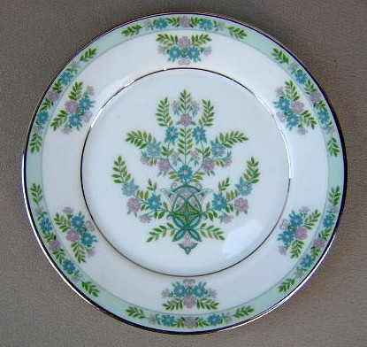 Make sure your browser can show photos and reload this page to see Oxford (Div Of Lenox) China Willow Tree Bread and butter plate