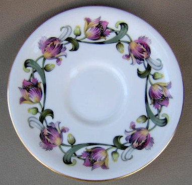 Make sure your browser can show photos and reload this page to see Royal Worcester China Tulip  Saucer only 5 3/4