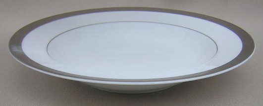 Make sure your browser can show photos and reload this page to see Sango China Carlotta 3628 Soup bowl, rim shape 8 1/2