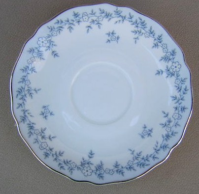 Make sure your browser can show photos and reload this page to see Franconia - Krautheim China Delphine Saucer only 6