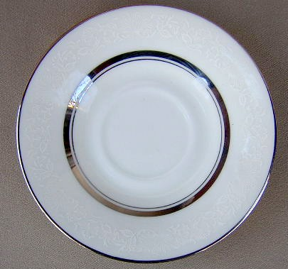 Make sure your browser can show photos and reload this page to see Oxford (Div Of Lenox) China White Echo Saucer only