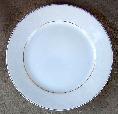 Make sure your browser can show photos and reload this page to see Rosenthal - Continental China White Velvet - Gold Trim Bread and butter plate 6 1/8