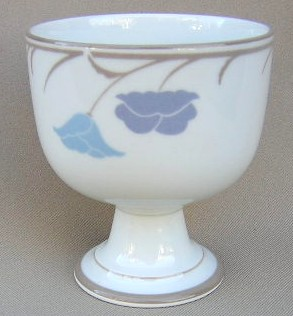 Make sure your browser can show photos and reload this page to see Dansk China Belles Fleurs - Taupe Goblet low (dessert goblets)