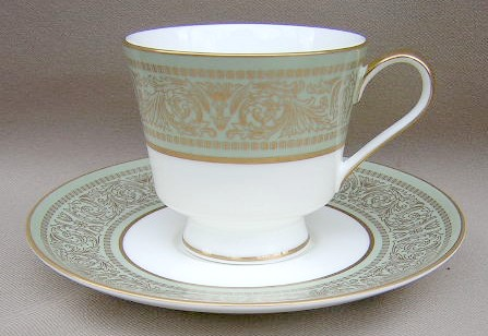 Make sure your browser can show photos and reload this page to see Mikasa China Rosemont A1117 Cup and saucer set 3