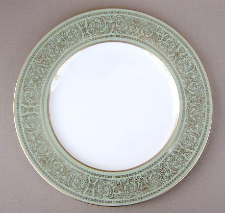 Make sure your browser can show photos and reload this page to see Mikasa China Rosemont A1117 Dinner plate 10 1/2