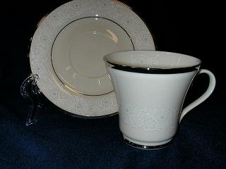 Make sure your browser can show photos and reload this page to see Gorham China Chantilly Lace Cup and saucer set