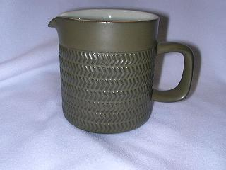 Make sure your browser can show photos and reload this page to see Denby - Langley China Camelot - Dark Green Creamer