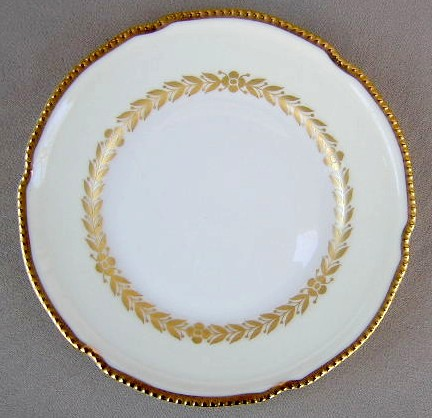 Make sure your browser can show photos and reload this page to see Castleton - USA China Laurel  Bread and butter plate 6 1/2