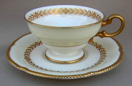Make sure your browser can show photos and reload this page to see Castleton - USA China Laurel  Cup and saucer set 2 1/4