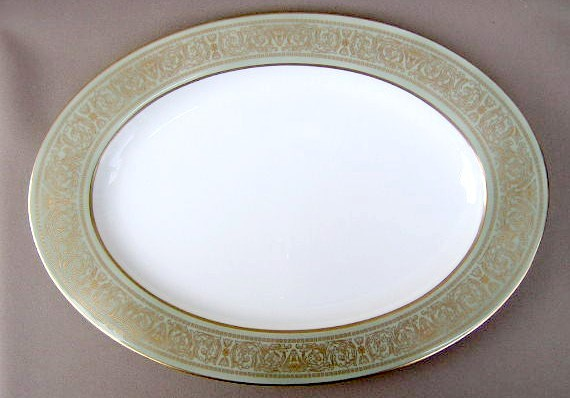 Make sure your browser can show photos and reload this page to see Mikasa China Rosemont A1117 Platter, medium 15