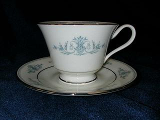 Make sure your browser can show photos and reload this page to see Oxford (Div Of Lenox) China Bryn Mawr Cup and saucer set footed