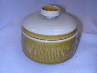 Make sure your browser can show photos and reload this page to see Franciscan China Topaz Sugar bowl with lid